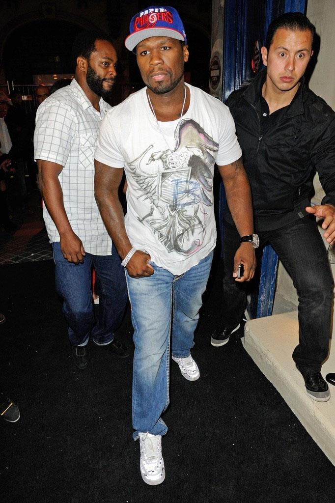 50 Cent Wears Nike Air Force 1 Low Digi Camo Sole