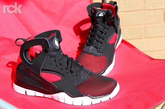 Red Black And White Nike Huarache