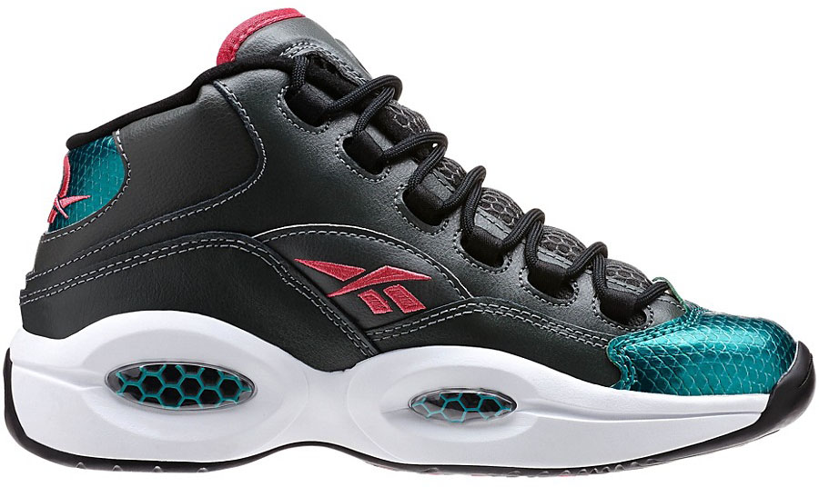 Reebok Question GS Rivet Grey/Teal Gem-Black-Candy Pink-White