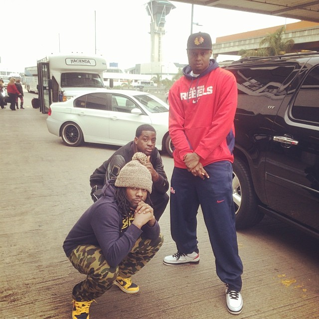 Wale wearing Nike Dunk High