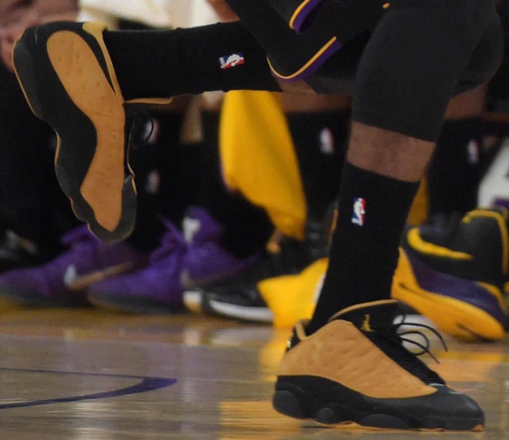 Nick Young wearing Air Jordan XIII 13 Low Chutney (2)