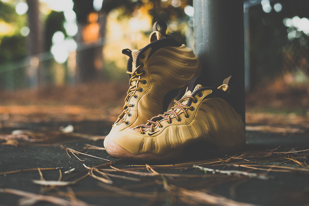 low priced e13b4 caf8b A Detailed Look at the 'Wheat' Nike Air Foamposite One ...