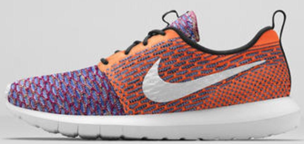 Nike Roshe Run Flyknit White/Multi-Color