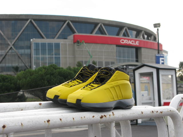 adidas Crazy 1 Sunshine at Oracle Arena