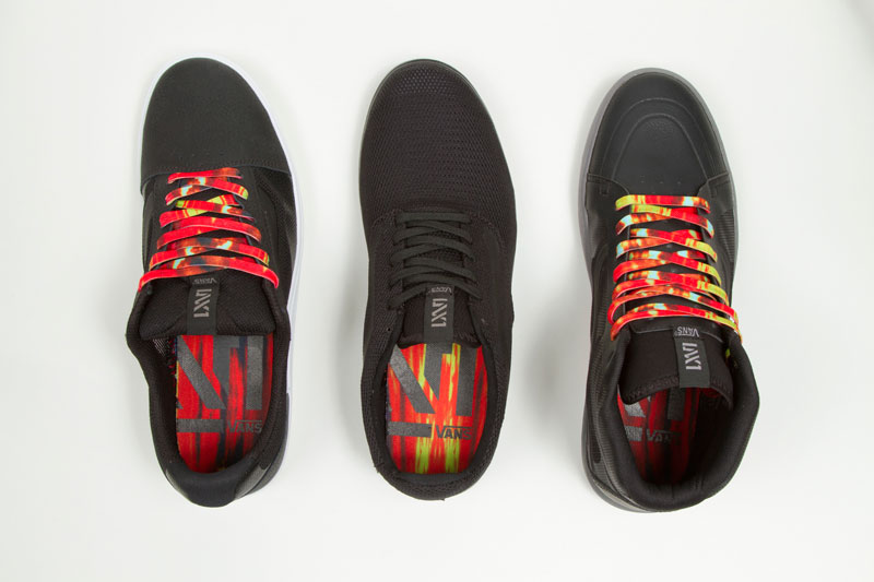 Vans LXVI Red Dawn Collection tie dye details