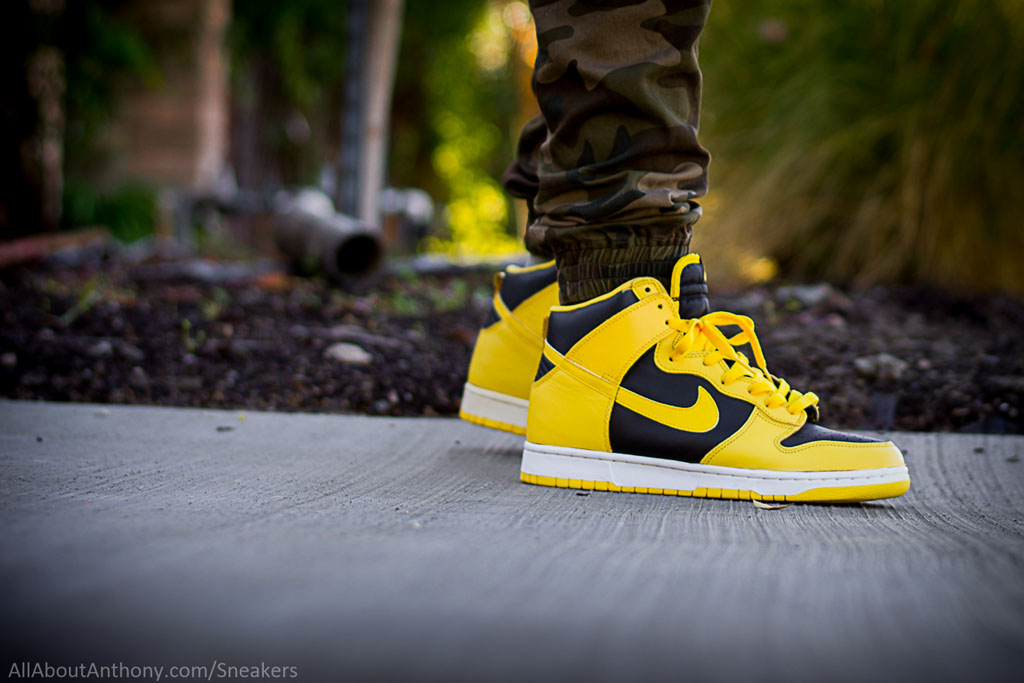 verse001 in the 'Goldenrod' Nike Dunk High