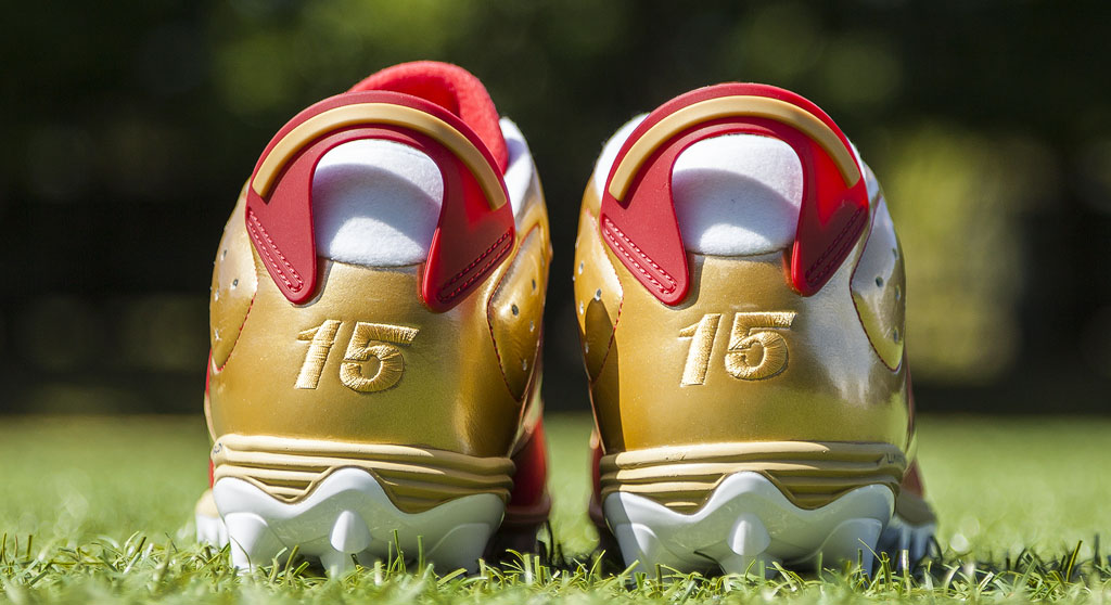 Michael Crabtree's Air Jordan VI 6 49ers PE Cleats (2)