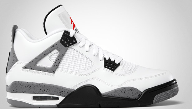 60ce60cadc274 Air Jordan Retro 4 - White/Black-Cement Grey - Official Images ...