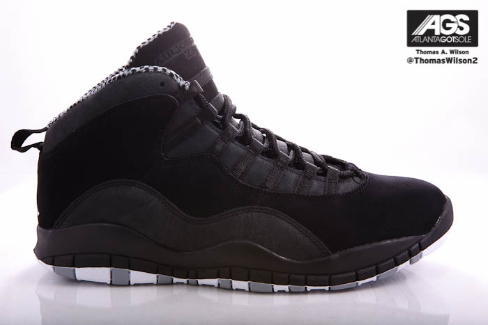 Air Jordan 10 X Retro Shoes Black White Stealth 310805-003 (3)