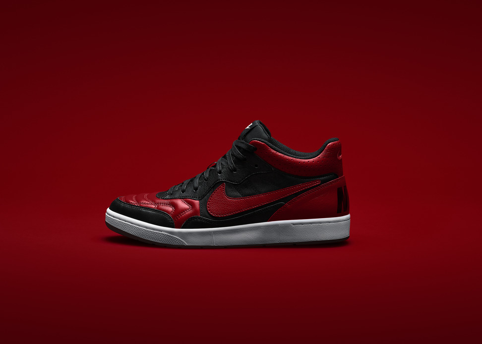 Marco Materazzi x Nike Tiempo 94 Air Jordan in Black Red Profile