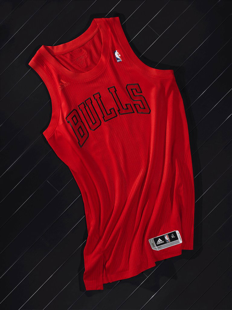 adidas BIG Color NBA Christmas Day Uniforms Chicago Bulls