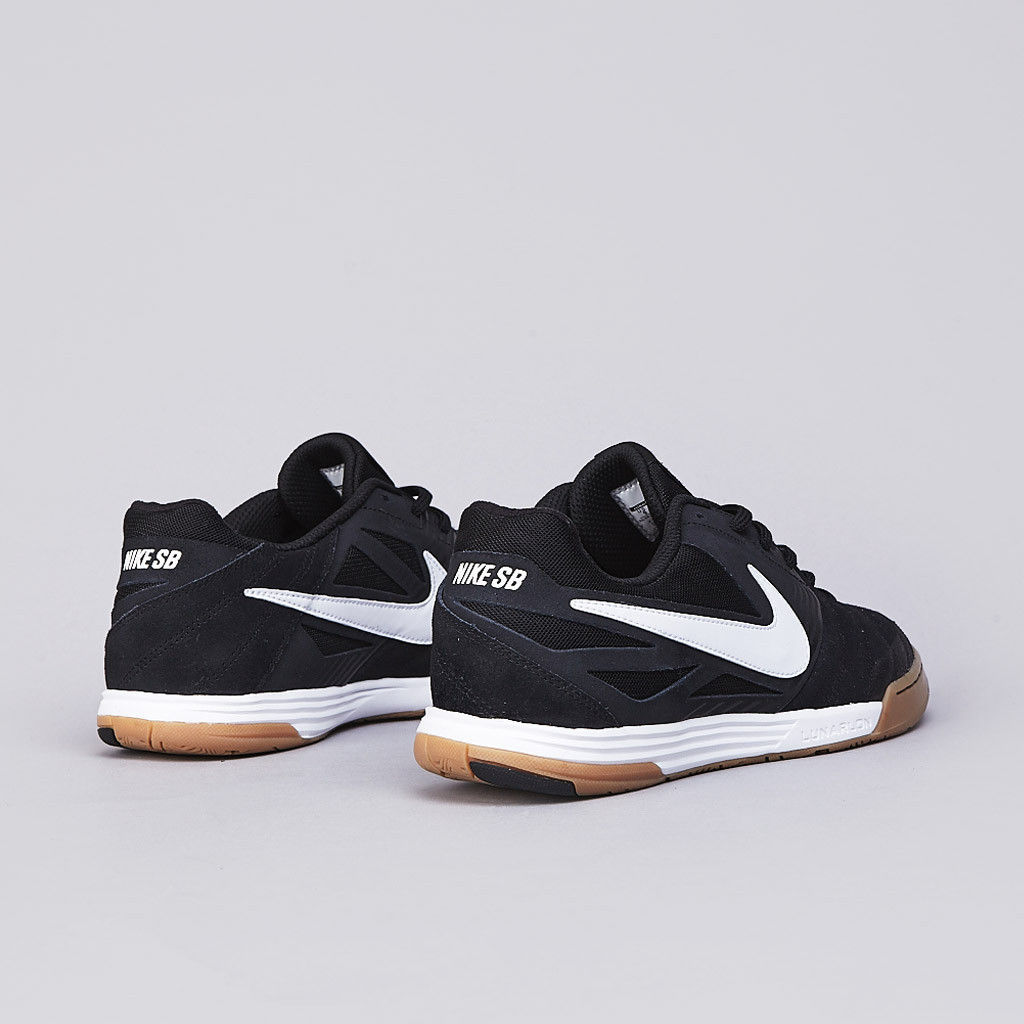 sports shoes c5481 51fa5 Nike SB Lunar Gato in black white gum heel