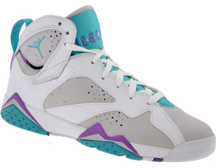 Air Jordans Rétro 7 Violet Bleu Et Gris