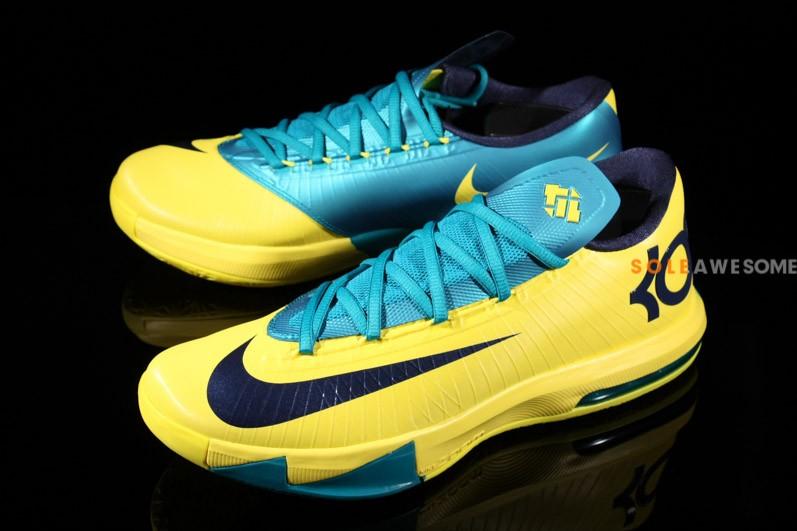 reputable site 35000 df2cc Nike KD VI - Yellow Teal-Navy