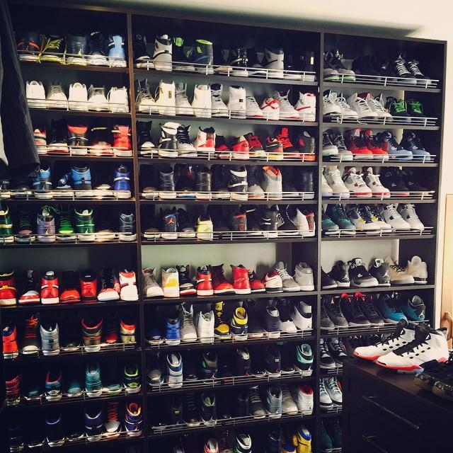 d24be0440afb0 The 15 Best Celebrity Sneaker Closets