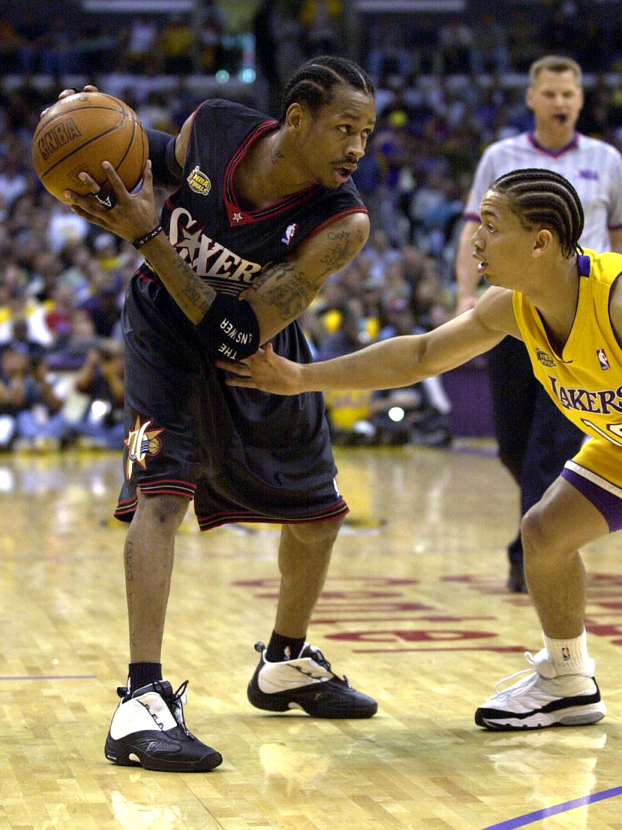 ... one of Allen Iverson's most celebrated signature models with Reebok,  it's the shoe AI wore during his lone NBA Finals appearance in the 2000-01  season.