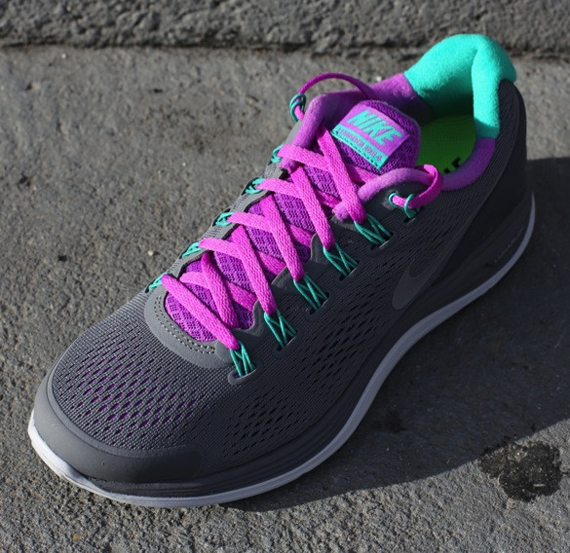new arrival ff188 0cca6 The Cool Grey Laser Purple Nike WMNS LunarGlide 4 is now available at  authorized retailers such as Oneness.