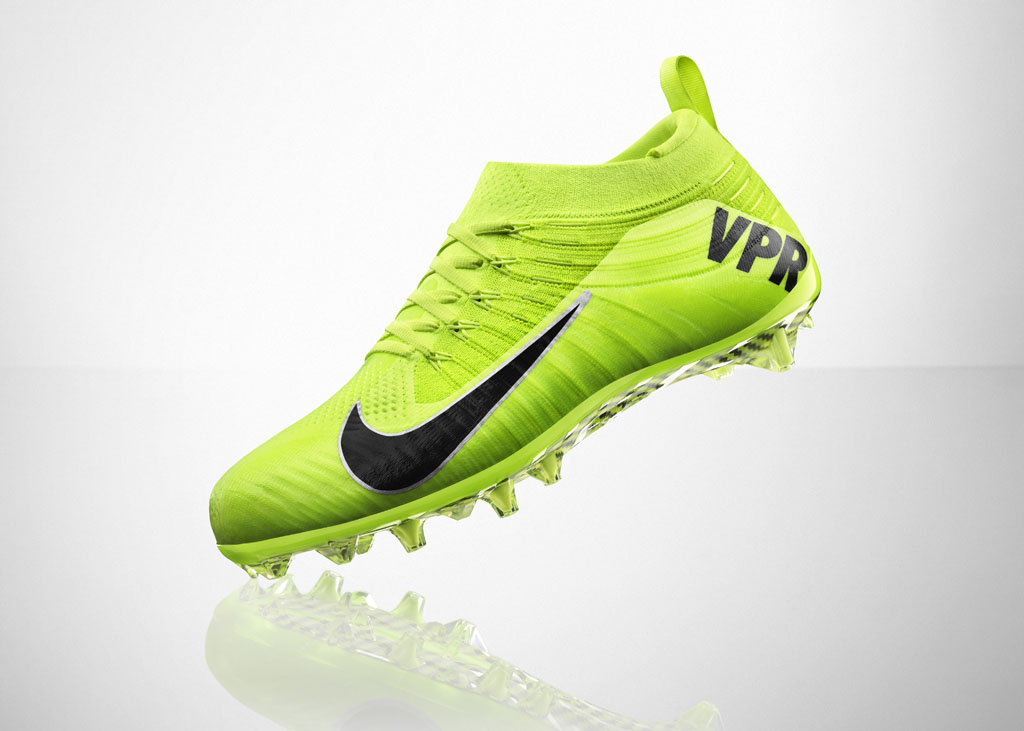 Nike Vapor Ultimate Flyknit Cleat Volt (5)