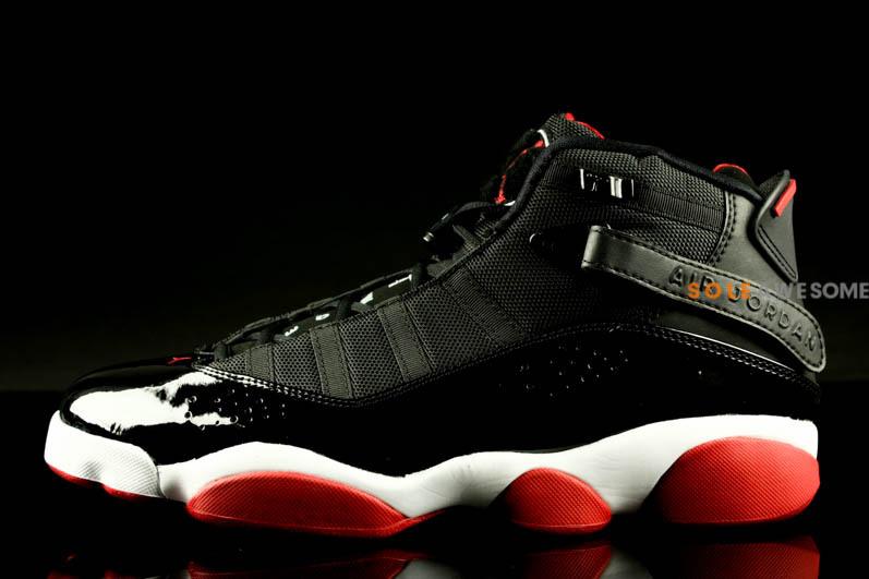 Air Jordan Six Rings Black Varsity Red White Sole