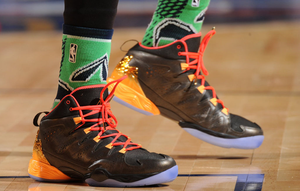 Carmelo Anthony wearing Jordan Melo M10 All-Star