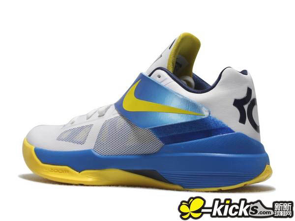 cheap for discount abd39 219cb Nike Zoom KD IV White Tour Yellow Photo Blue Midnight Navy 473679-102 (7