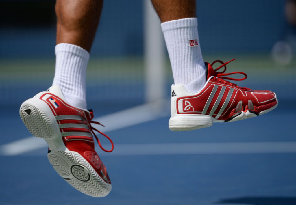 US Open 2013 // Novak Djokovic wearing adidas adipower Barricade 7.0 PE