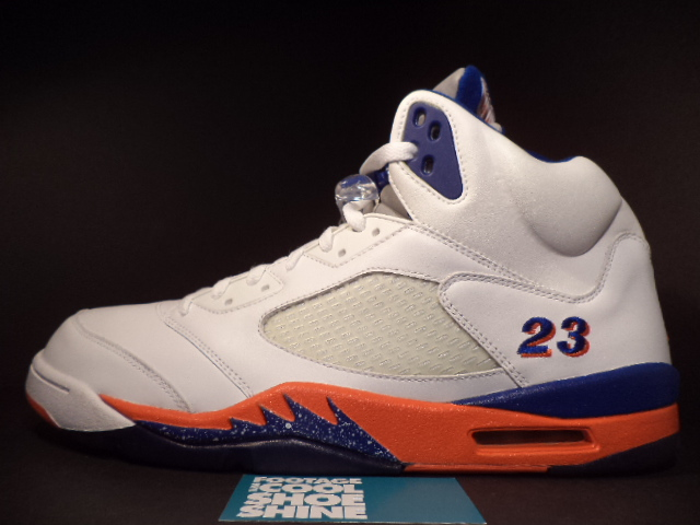 Quentin Richardson wearing Air Jordan V 5 New York Knicks Home PE (2)