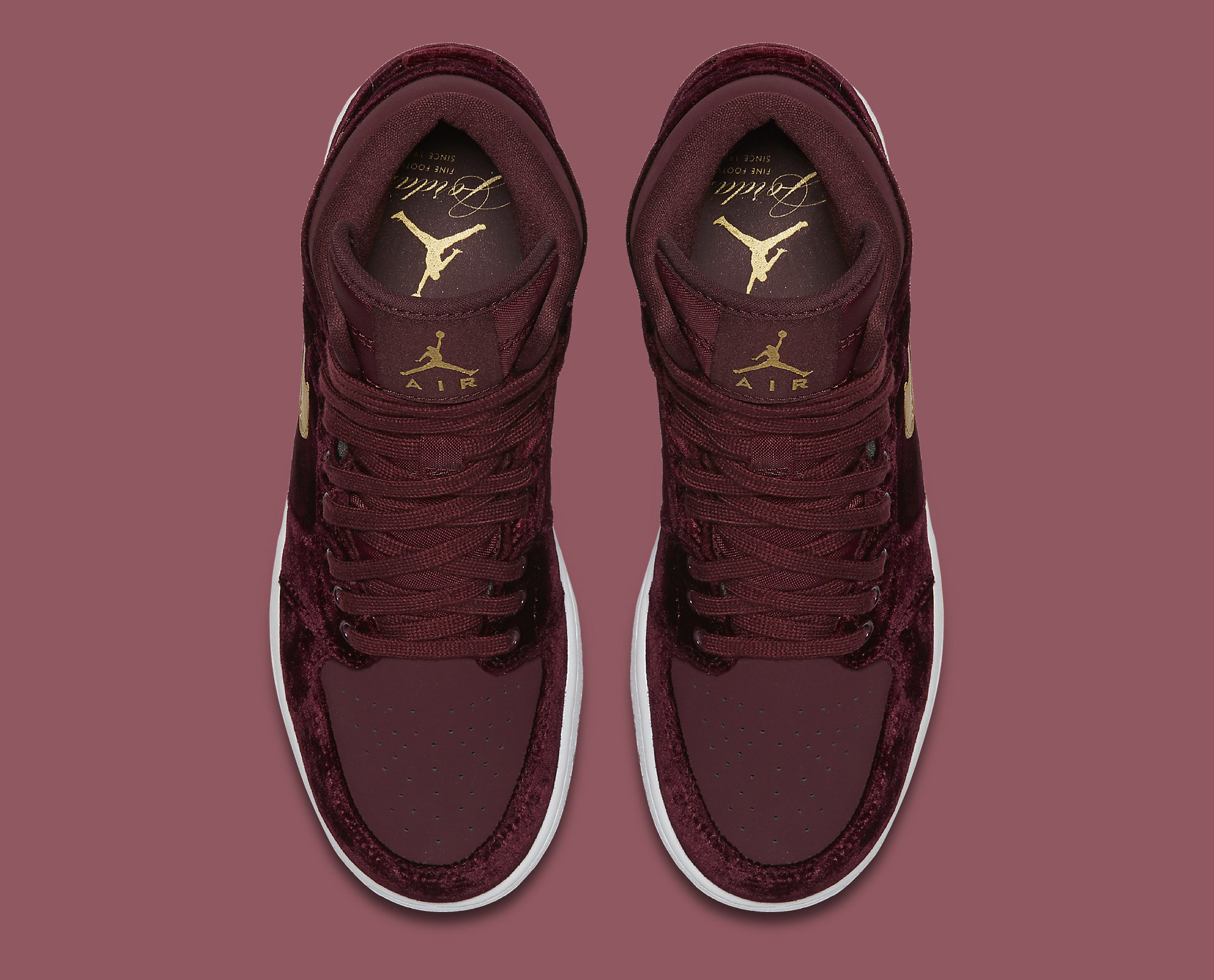 2e308f72af19 Image via Nike Red Velvet Air Jordan 1 Heiress 832596-640 Top