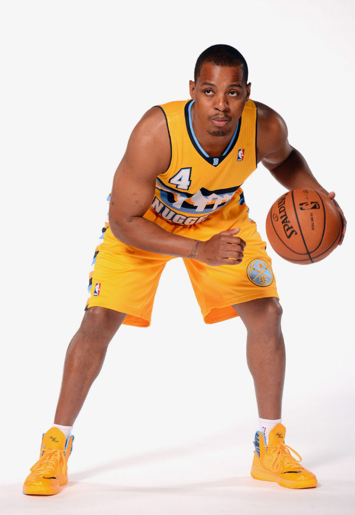 Randy Foye wearing Nike Zoom Hyperfuse 2013 PE