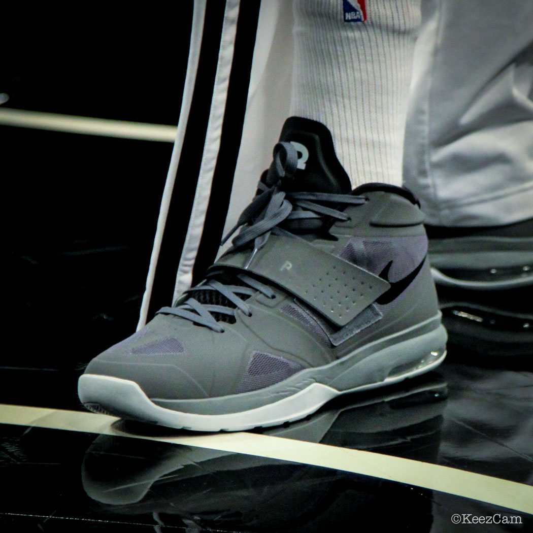 #SoleWatch // Up Close At Barclays for Nets vs Lakers - Paul Pierce wearing Nike Air Legacy 3
