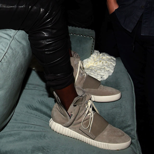 f853a216b Kanye West Seen Wearing His adidas Yeezy Sneakers