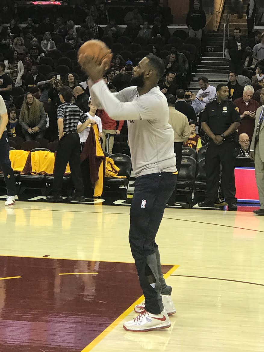 LeBron James Wearing a Nike LeBron 10 PE Shooting