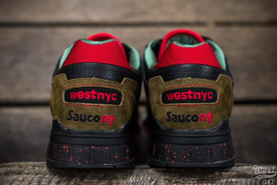 West NYC x Saucony Shadow 5000 Cabin Fever NY heel detail
