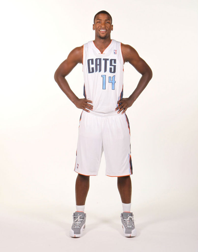 Michael Kidd-Gilchrist wearing Air Jordan XII 12 Cool Grey
