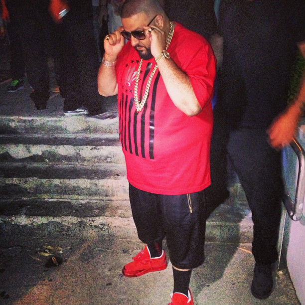 0a436db1c43 DJ Khaled wearing Air Jordan III 3 Retro Red Legends Of The Summer (1)
