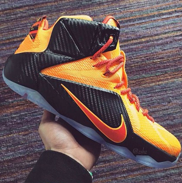 finest selection d232e c58f7 ... nike lebron xii 12 cle 2 bd939 6f3e5 official nike lebron xii 12 cle 2  bd939 6f3e5  italy lbj wears shiny nike lebron 12 cavs gold finals pe in game  6 ...