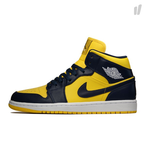 buy popular hot sale online order Air Jordan 1 Retro Mid - Varsity Maize/Midnight Navy | Sole ...