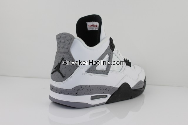Air Jordan Retro 4 White Black Tech Grey 308497-103 C