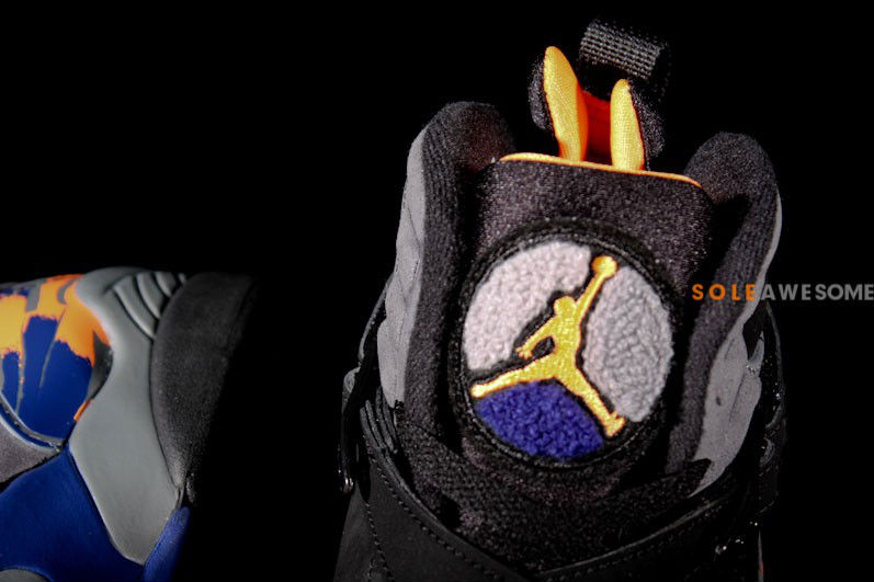 Air Jordan Retro VIII 8 Black Bright Citrus Cool Grey Deep Royal 305381-043 (7)