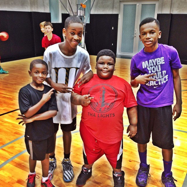 TerRio wearing Air Jordan 7 Black/Red