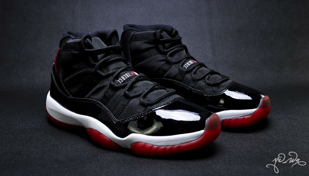 Air Jordan XI 11 Black Red 378037-010 (3)