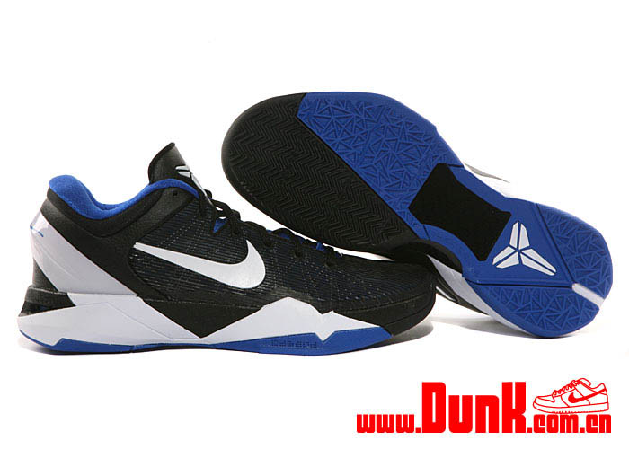 Nike Kobe VII System Duke Shoes Treasure Blue White Black 488370-400 (2)