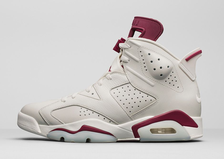 air jordans retro 6 maroon