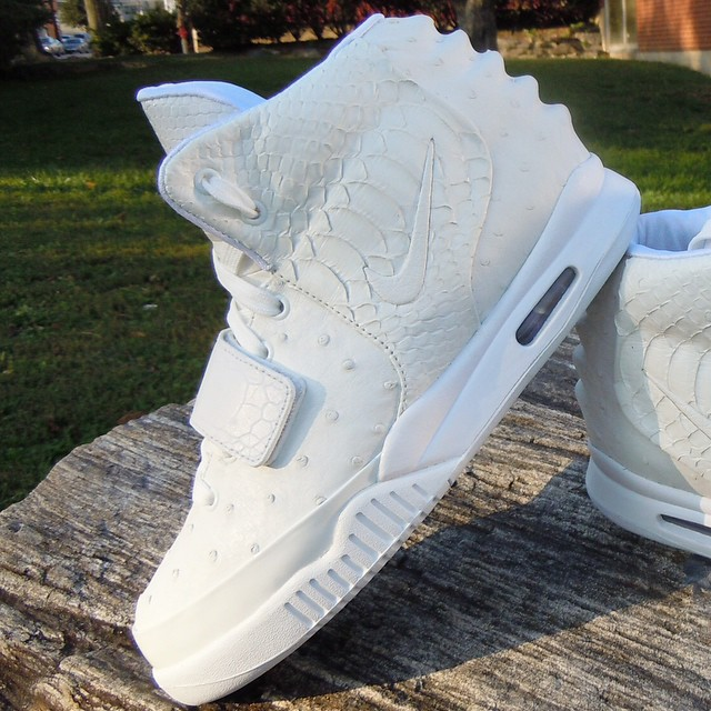 3ce19239bea225 Nike Air Yeezy 2  White Ostrich  by Relevant Customs