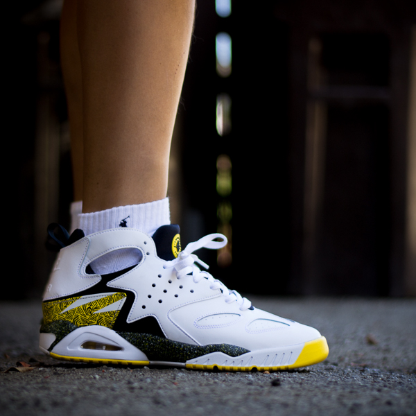 verse001 in the 'Tour Yellow' Nike Air Tech Challenge Huarache