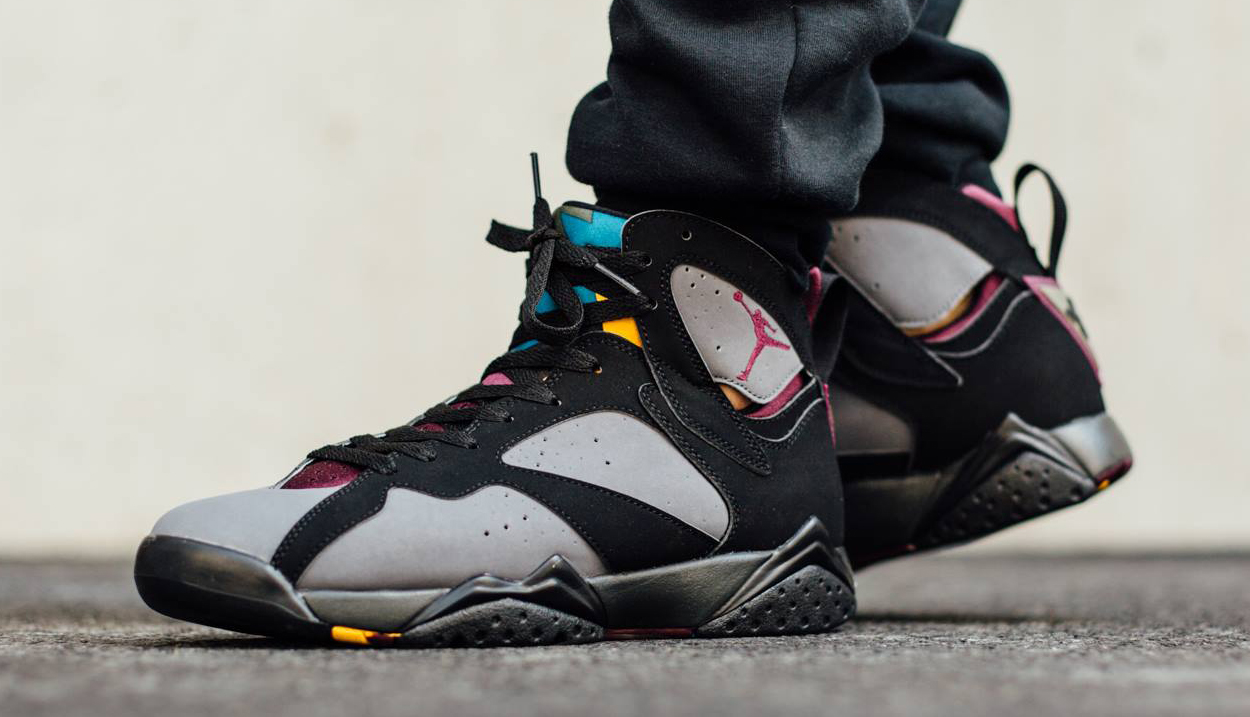 see how 39 bordeaux 39 air jordan 7s look on feet before
