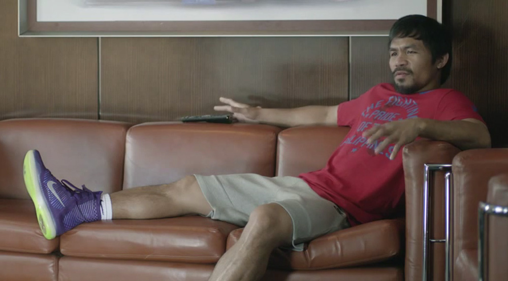Manny Pacquiao wearing Nike Kobe 10 Elite