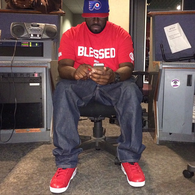 DJ Funk Flex wearing Air Jordan VI 6 Spizike