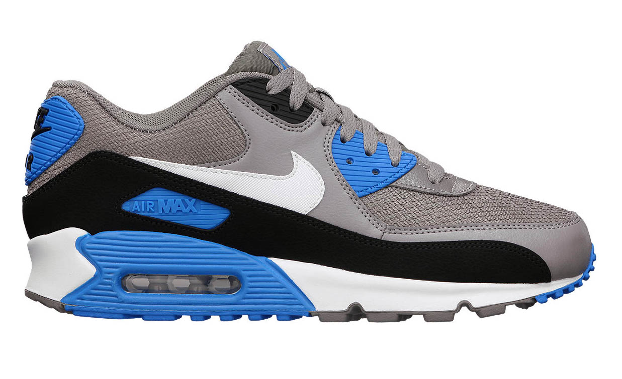 buy online 6fd6b e0dc7 Nike Air Max 90 Essential - Sport Grey/Photo Blue | Sole ...