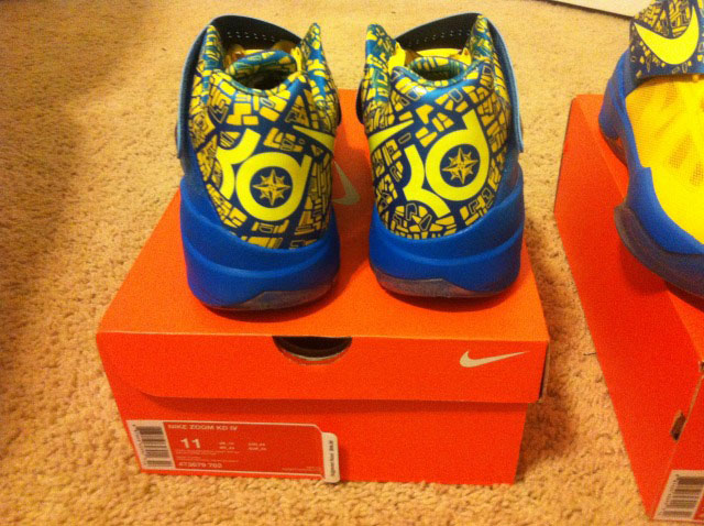 huge selection of ccd61 20bf0 Nike Zoom KD IV 4 Scoring Title Tour Yellow Lemon Twist Photo Blue 473679- 703
